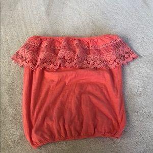 American Rag scarlet lace tube top